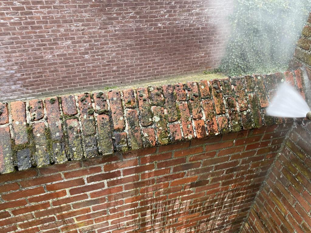 Stooom muur afspuiten